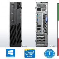 PC LENOVO M91P SFF - INTEL QUAD CORE  I5-2400 - SVGA INTEL HD2000  - 4GB RAM - SSD 240GB  - DVDRW - Windows 10 PRO-  USATO- 12