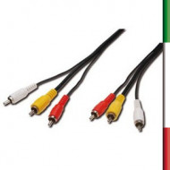 CAVO AUDIO/VIDEO 2XRCA M/M 1,8Mt