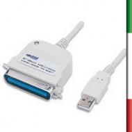 CAVO CONVERT. da USB a parallelo 1.8Mt.