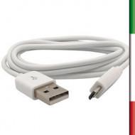 CAVO da USB AM  a  micro AM 1M  PER RICARICA E SINCRONIZZAZIONE DATI SMARTPHONE - Black-Orange-Green-Blu