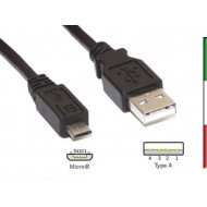 CAVO da USB AM  a  micro BM 2.5mt