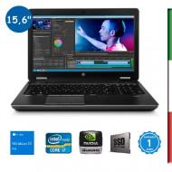 NOTEBOOK  HP ZBOOK 15 G2  (Ricondizionato Certificato)  DISPLAY 15,6  FULL HD - INTEL I7-4710MQ - RAM 16GB- SSD 512GB SATA - SV