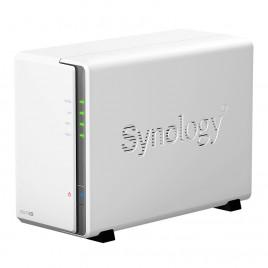 "NAS SYNOLOGY DS220J X 2HD 3.5""/2.5"" SATA2/3-NO HD-4-CORE 1.4GHZ -DDR4 512MB-1P GIGA-2P USB3.0-SUPP."