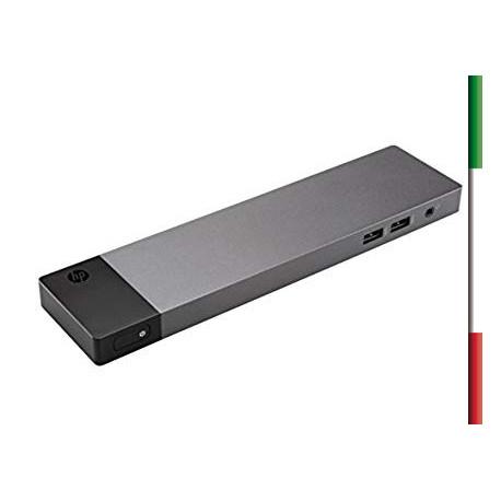 Docking Station Elite/ZBook Thunderbolt 3 per HP Modello HSTNN-CX01 Porte RJ-45 Ethernet,3 USB 3.0, VGA, 2 DisplayPort 1.2, 1 U