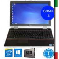 NOTEBOOK DELL LATITUDE E6520 (GRADO B USATO CERTIFICATO)  DISPLAY 15,6  1600x900  - INTEL  I5-2520M - RAM 8G - SSD 240GB - WEBC