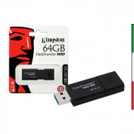 PEN DRIVE 64GByte USB 3.0 KINGSTON DT100 G3
