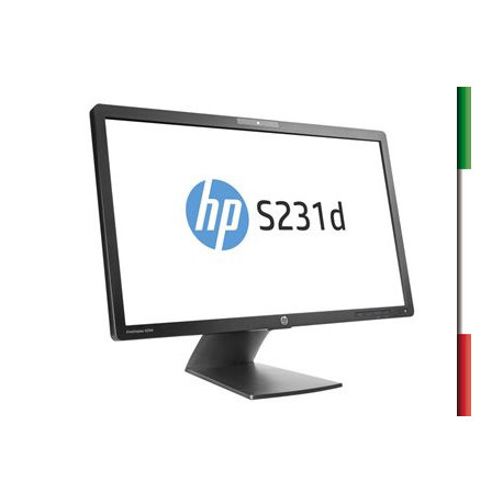 "MONITOR LED 23"" HP S231D (Ricondizionato certificato) GRADO A PIVOT 16:9 1920x1080 IPS WEBCAM USB 3.0 LAN VGA DISPLAY PORT"
