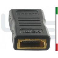ADATTATORE HDMI/HDMI F/F NERO