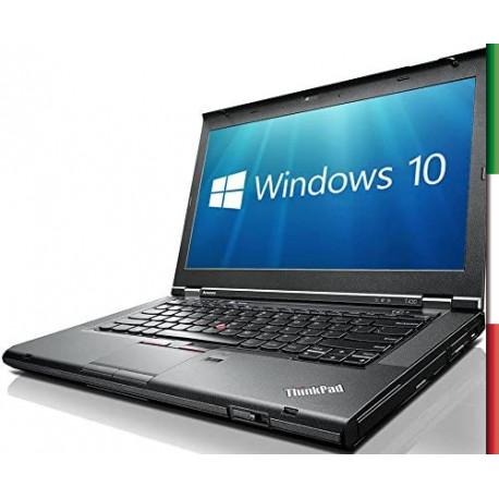 NOTEBOOK LENOVO T430 (Ricondizionato Certificato)  DISPLAY 14 HD  - INTEL  I5-3210M - RAM 8G - SSD 128GB - DVD - WEBCAM -  SVGA