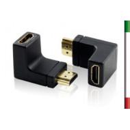 ADATTATORE HDMI/HDMI M/F ad Angolo