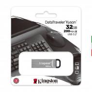 FLASH DRIVE USB3.0 32GB KINGSTON DTKN/32GB KYSON METAL CASE SILVER