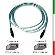 CAVO FIRE WIRE oem 1394 6M-6M 1mtadatto a trasmissione dati  max. 400M Mb