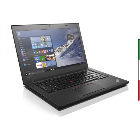 NOTEBOOK  LENOVO THINKPAD T460  (GRADO B USATO CERTIFICATO) - DISPLAY 14,1  HD+ 1600x900 - INTEL  I5-6300U - RAM 8GB DDR3  -  S