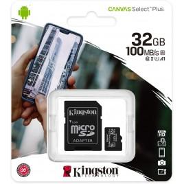 SD Memory Card MICRO 32GB SDCS2/32GB CLASS10 UHS-I 100MB/S CANVAS SELECT PLUS KINGSTON