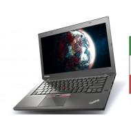 NOTEBOOK LENOVO T450(Ricondizionato certificato) - DISPLAY 14 HD -  INTEL I5-5300U - RAM 8GB - SSD 240GB -  SVGA INTEL HD 5500