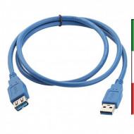 CAVO PROLUNGA USB 3.0/2.0 TIPO A MASCHIO - A FEMMINA