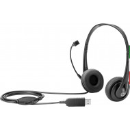 CUFFIE + MICROFONO HP T1A67AA BLACK USB 1Y CERTIFICATE SKYPE FOR BUSINESS