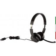 CUFFIE+MICROFONO LENOVO 4XD0X88524 USB2.0 STEREO100 PELLE+MEMORY FOAM PLUG-AND-PLAY USB-A CAVO 1.8MT