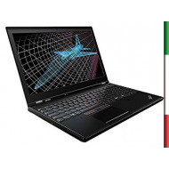 NOTEBOOK LENOVO P50 (Ricondizionato) DISPLAY 15,6 FULL HD - INTEL QUAD I7-6820HQ - RAM 32GB DDR4- SSD 500GB NVE - SVGA QUADRO