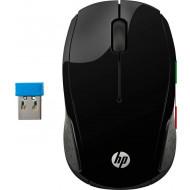 MOUSE HP - PC 200 Mouse Wireless, Tecnologia LED Rosso, Laser fino a 1000 DPI, 3 Pulsanti, Rotella Scorrimento, Ricevitore USB