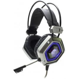 Cuffie Gaming USB con Microfono Lion Silver. Driver premium da 50 mm di alta precisione per un audio stereo eccezionale e micro