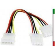 CAVO MICRO USB m-m DLT-P17 PER RICARICA E SINCRONIZZAZIONE DATI SMARTPHONE 1MT SILVER