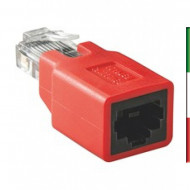ADATTATORE RJ45 M/F Patch to Crossover