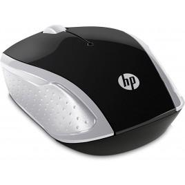 MOUSE HP PC 200 Wireless, Tecnologia LED Rosso, Laser fino a 1000 DPI, 3 Pulsanti, Rotella Scorrimento, Ricevitore USB Wireless