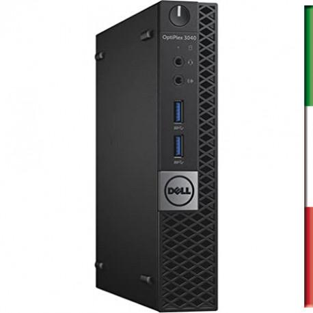 PC DELL 3040 MINI (Ricondizionato certificato) - INTEL I3-6100T - SVGA INTEL HD530 - 8GB RAM - SSD 480GB - Windows 10 PRO - 12