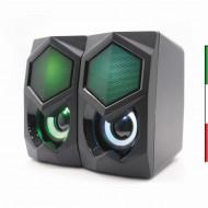 Casse 2.0 RGB GAMING USB POWERED Ottimo suono stereo