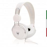 CUFFIA STEREO PROFESSIONALE - BIANCO Driver 40mm con magnete in neodimio- Connettore jack 3,5mm- Colore bianco- Lunghezza cavo 1