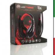 CUFFIE + MICROFONO  GAMING ITH8620 Black -STEREO