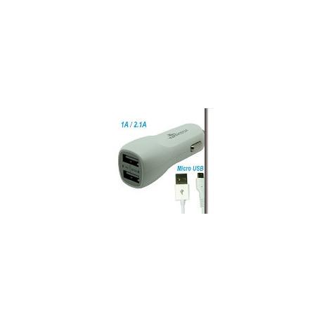 ADATT porta accend+2 USB 2A+CAVO USBBLACK/WHITE