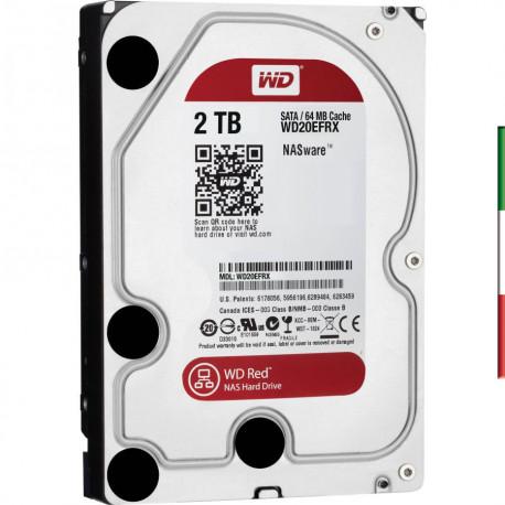 HARD DISK SATA3 3.5 2 TB WD SATA3 64Mb. RED 7200g - Per Raid