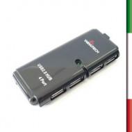 HUB 4  porte USB WIMITECH PHU-1003 Bk