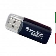 LETTORE MICRO SD/MSTIK PRO DUO/SDHC SU PEN USB