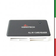 LETTORE MULTICARD 85 IN 1 USB 2.0NERO  PLUG&PLAY WIN/MAC