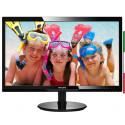 MONITOR PHILIPS LCD LED 24 WIDE 246V5LDSB/00 1MS 0.277 FHD 1920X1080 1000:1 GLOSSY BLACK VGA DVI HDMI VESA FINO