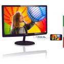 MONITOR PHILIPS LCD LED 27 WIDE 277E6LDAD/00 1MS MM 0.311 FHD 1920X1080 1000:1 GLOSSY BLACK VGA DVI HDMI MHL