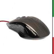 MOUSE ITEK GAMING SCORPION MONSTER USB - 6 TASTI+ SCROLL - 2400DPI - RETROILLUMINATO ROSSO ERGONOMICO (ITMX11)