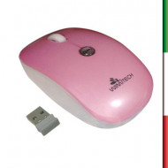 MOUSE OPTICAL MSW-1003 WIMITECH BIANCO /ROSA WIFI USB