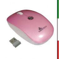 MOUSE OPTICAL MSW-1003 WIMITECH BIANCO /ROSA WIFI USB