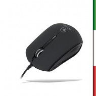 MOUSE CRYSTAL iMOUSE BIANCO CON CAVO RETRATTILE USB