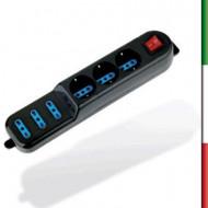 MOUSE MINI OPTICAL EWENT USB  EW3177 BLU