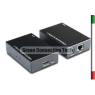 AMPLIFICATORE HDMI su CAT5/6  to 50MT1 Cavo rete  - Alimentato