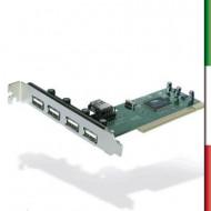 SCHEDA PCI 4 PORTE(3+1) USB 2.0