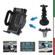 Supporto per Auto UNIV GPS/SMARTPHONE 360 GRADI SAU-12