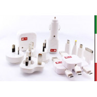SWISS CHARGERCARICABATTERIE UNIVERSALE DA AUTO/CASA WORLDWIDE SWISS CHARGER SCH10002 MICRO/MINIUSB+30PIN APPLE+PSP+DSI - 4897022