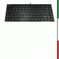 TASTIERA MINI ATLANTIS P013-DLK-1110U ULTRASLIM BLACK-USB