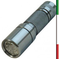 TORCIA 12 LED ALLUMINO Mix Color